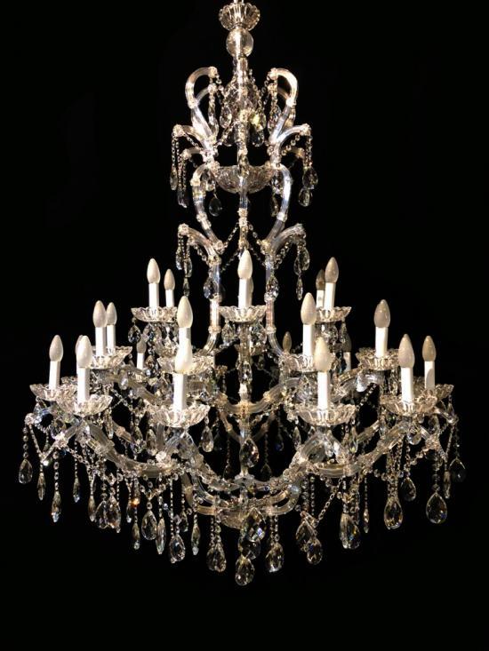 Lustre Cristal K9 27 lâmpadas
