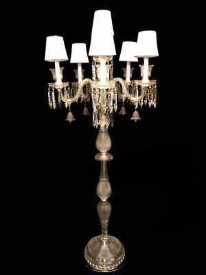 Castiçal Cristal K9 5 lâmpadas